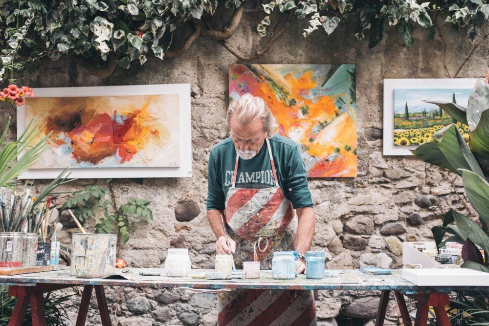 אמן ציור - אילוסטרציה